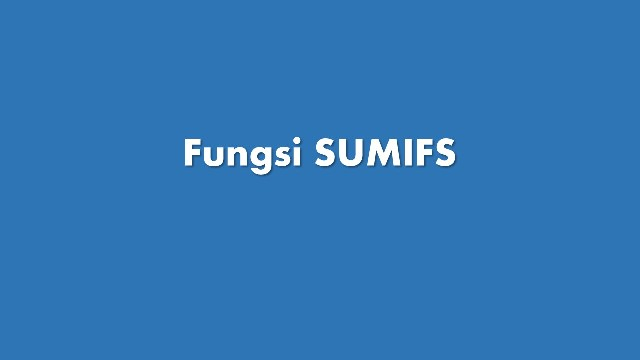 sumifs