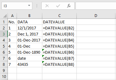 Fungs DATEVALUE di Excel